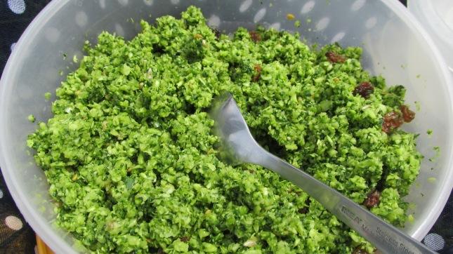 taboulé cru, à base de brocoli