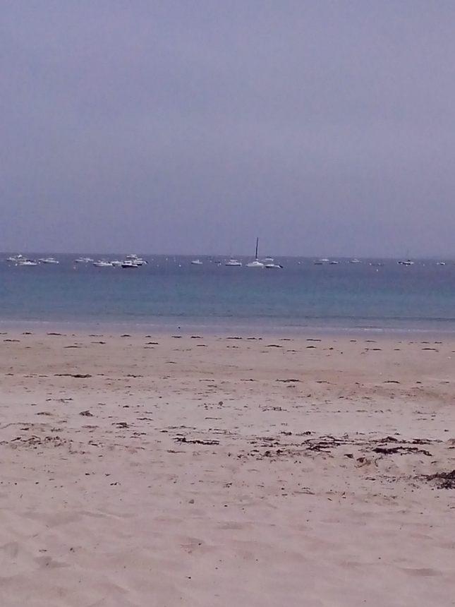 la grande plage des Mielles en tout début d'aprem