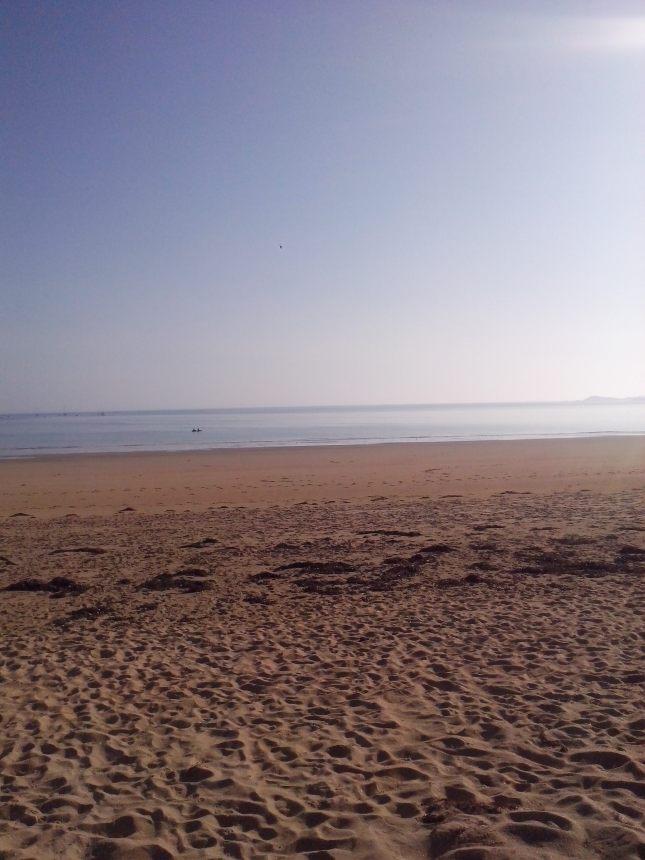 cette photo n'a pas été prise ce matin , mais quelques jours avant par contre , mais même plage, même lieu sur la plage