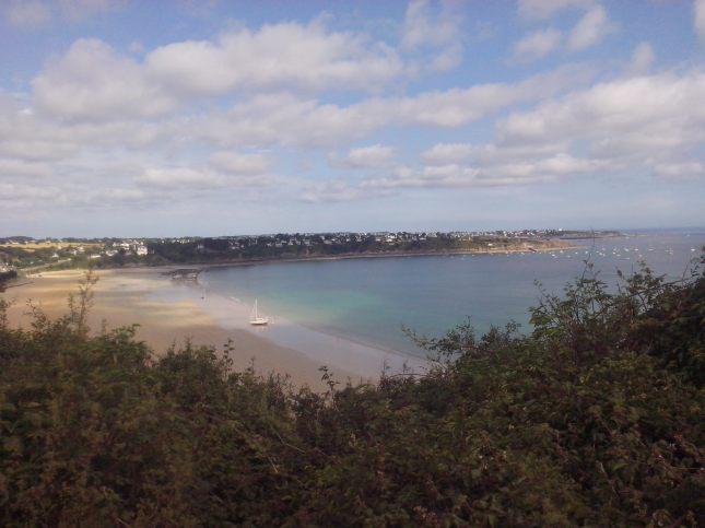 vue sur la plage de Pen Guen