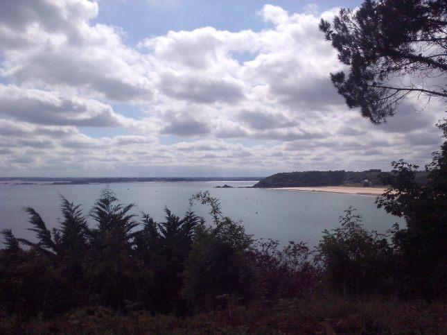 vue sur la plage de Pen Guen dans mon dos